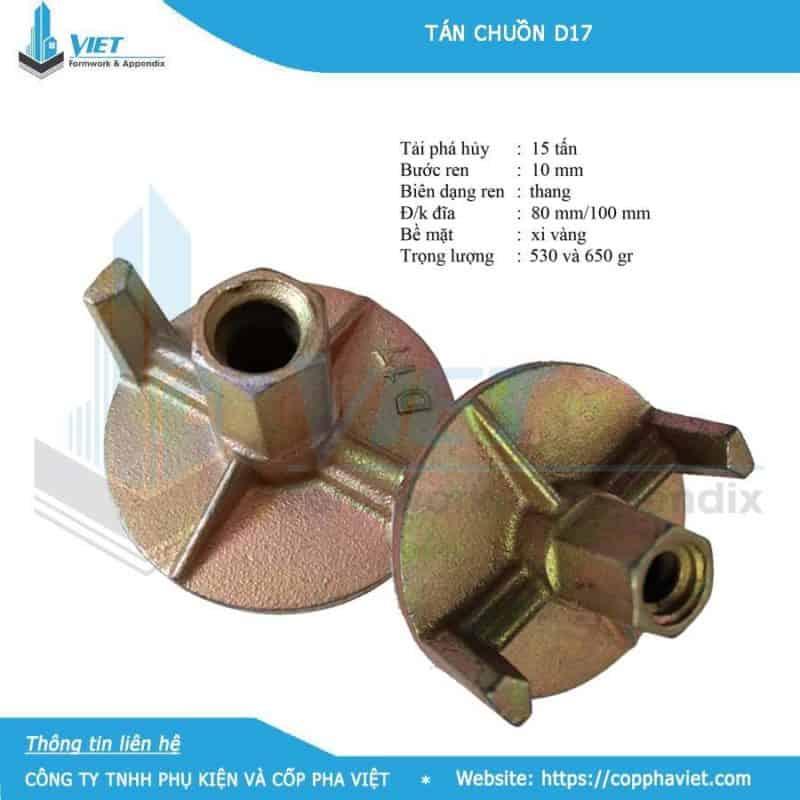Bát chuồn D17 xi mạ 530 gram đường kính 100mm