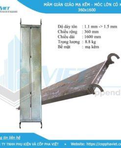 Mâm giàn giáo mạ kẽm có khóa nặng 8.8 kg