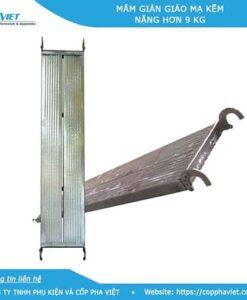Mâm giàn giáo mạ kẽm có khóa 360 x 1600 nặng hơn 9kg