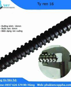 Ty ren suốt D16 tải trọng 9 tấn bước ren 6mm