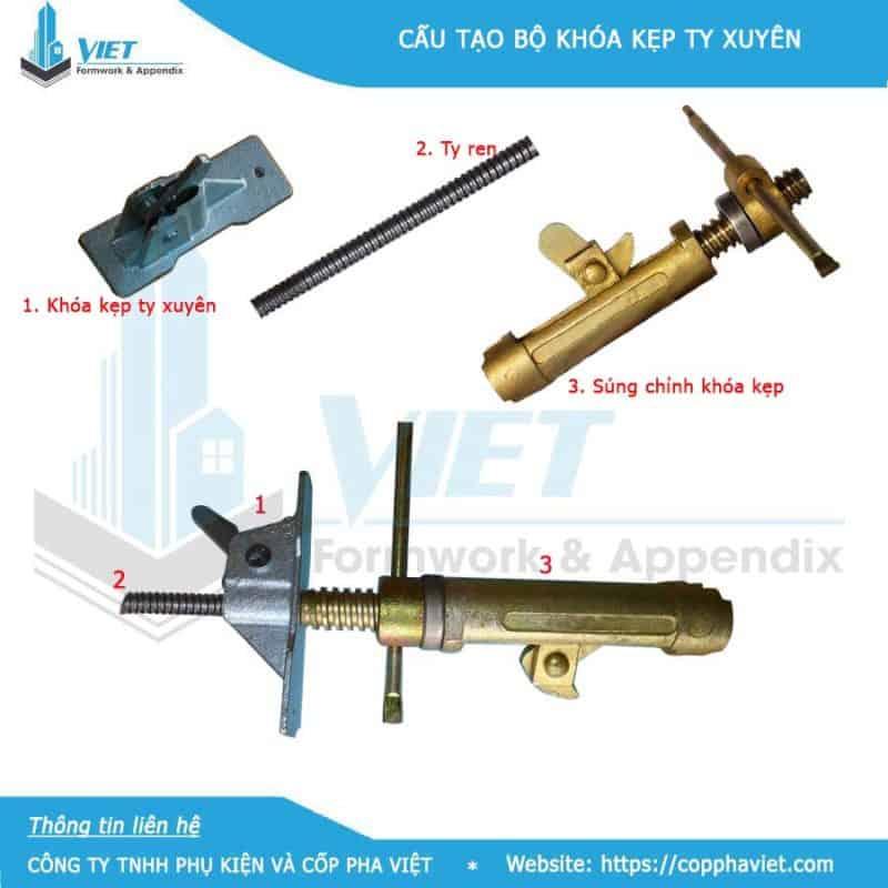 Chỉnh khóa kẹp ty xuyên Cốp Pha 6