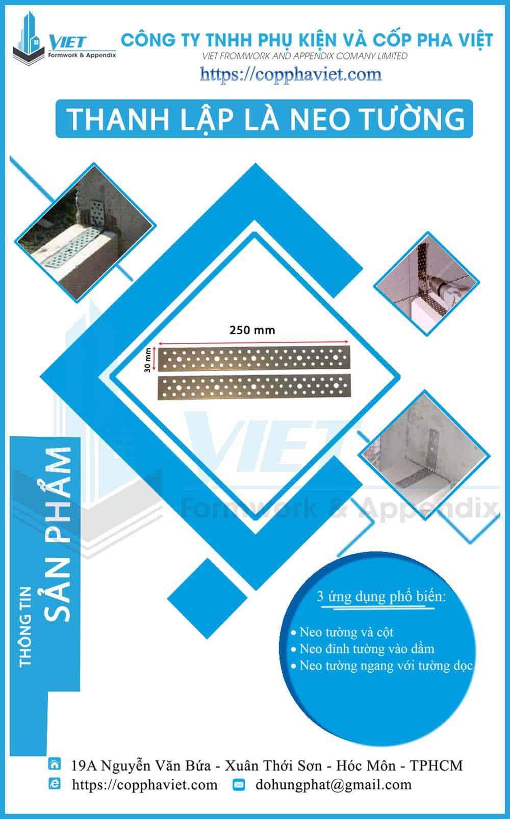 Bát neo tường gạch nhẹ ACC 250x30x1 hình 1