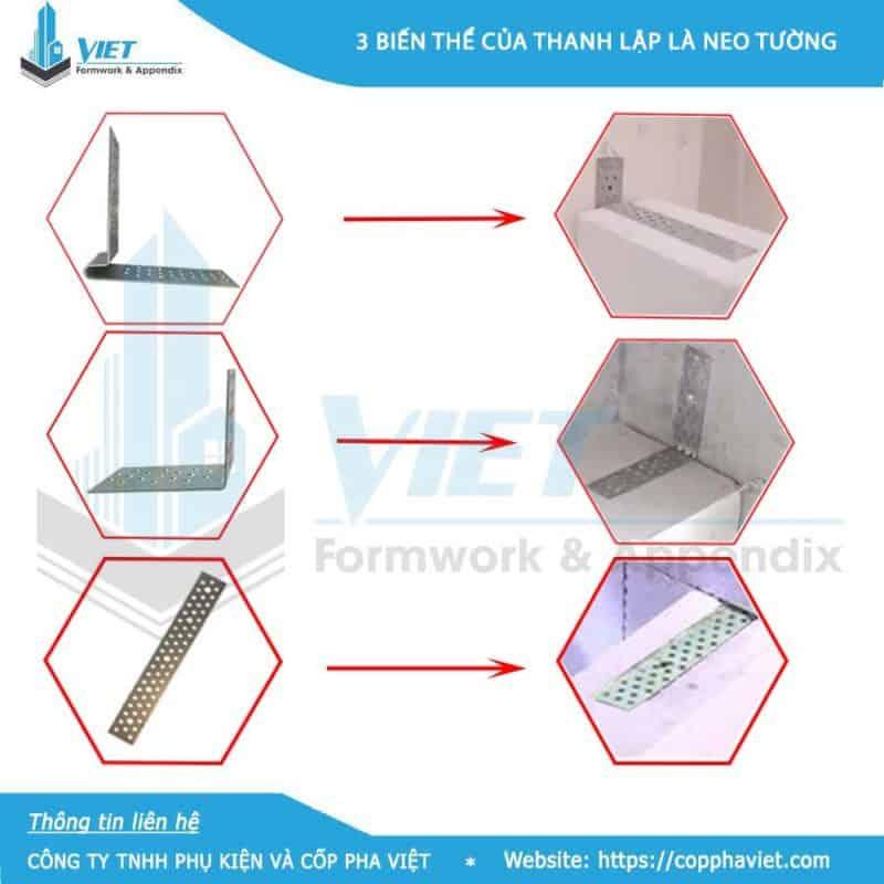 Bát neo tường gạch nhẹ ACC loại 300x30x1