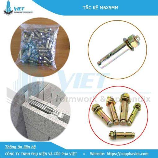 Tắc kê sắt M6x50 dùng cho thép râu tường