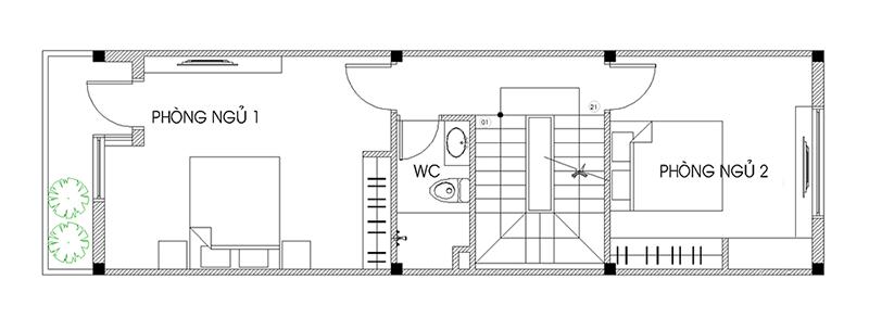 thiết kế nhà 40m2 3 tầng 11