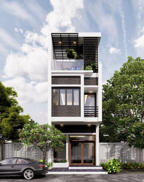 thiết kế nhà 40m2 3 tầng 6