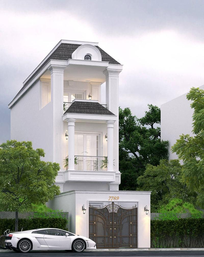 thiết kế nhà 40m2 3 tầng 8
